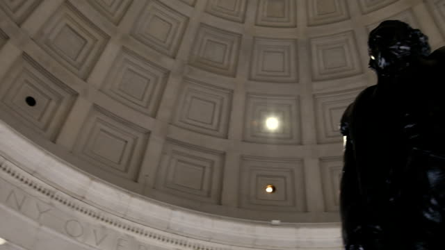 thomas jefferson memorial-pan - präsident der usa stock-videos und b-roll-filmmaterial