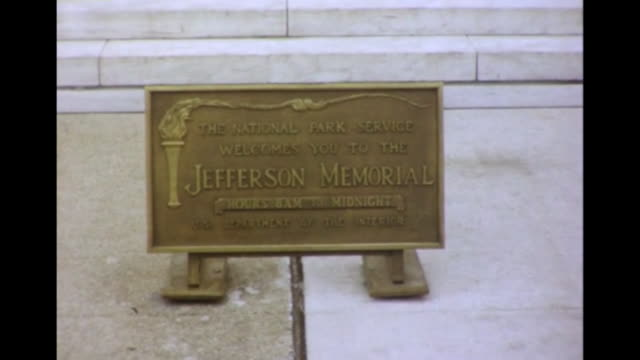 1964 Thomas Jefferson Memorial Sign and Steps