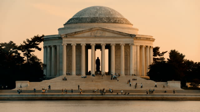 vidéos et rushes de thomas jefferson memorial, washington d.c, usa - jefferson memorial