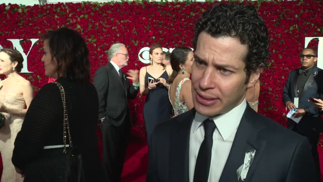 interview thomas kail talks about directing hamilton at 2016 tony awards red carpet at the beacon theatre on june 12 2016 in new york city - 70th annual tony awards stock videos and b-roll footage