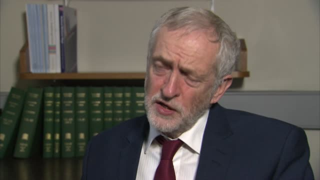 jeremy corbyn interview england london int jeremy corbyn mp interview sot - thomas mair stock videos and b-roll footage