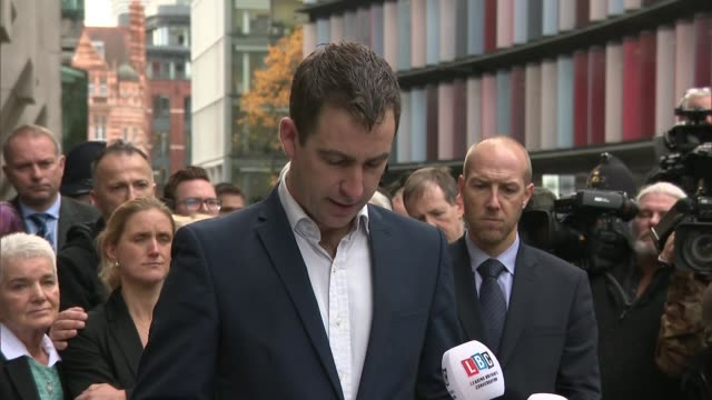 family statements brendan cox statement sot / family husband sister and parents jean and gordon leadbeater into court / different shots/ camera angle... - thomas mair stock videos and b-roll footage