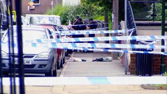 thomas mair jailed for 'terrorist' murder of mp jo cox lib / tx wide shot police cordon at scene - jo cox politician stock videos and b-roll footage