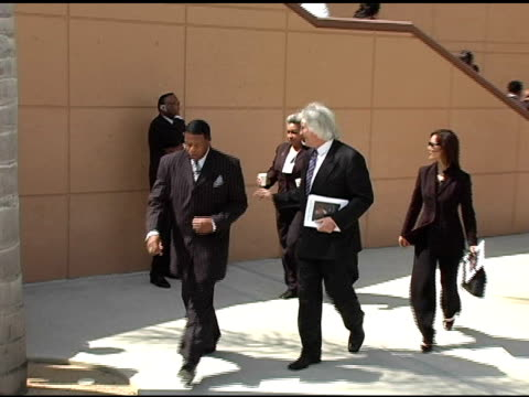 thomas mesereau jr at the funeral of johnnie l cochran, jr arrivals at west angeles cathedral in los angeles, california on april 6, 2005. - johnnie cochran stock videos & royalty-free footage