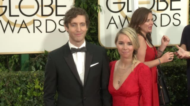 Thomas Middleditch and Mollie Gates at The Beverly Hilton Hotel on January 11 2015 in Beverly Hills California