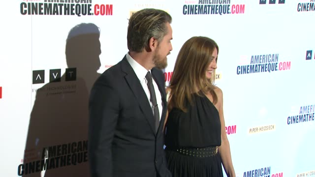 thomas mikusz elvi cano at american cinematheque's 27th annual award presentation honoring jerry bruckheimer in beverly hills ca on - american cinematheque stock videos & royalty-free footage