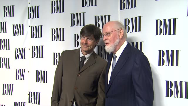 thomas newman, john williams at composer rolfe kent receives bmi's richard kirk award at the bmi film & television awards on 5/16/12 in los angeles,... - composer stock videos & royalty-free footage