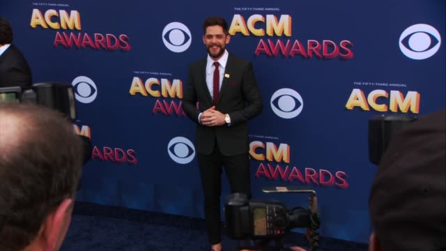 thomas rhett at the 53rd academy of country music awards at mgm grand garden arena on april 15 2018 in las vegas nevada - academy of country music awards stock videos & royalty-free footage