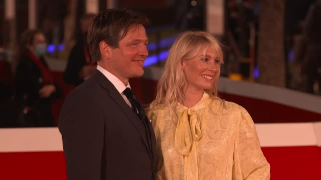"""thomas vinterberg, helene reingaard neumann attends the red carpet of the movie """"druk"""" during the 15th rome film festival on october 20, 2020 in... - rome film festival stock videos & royalty-free footage"""