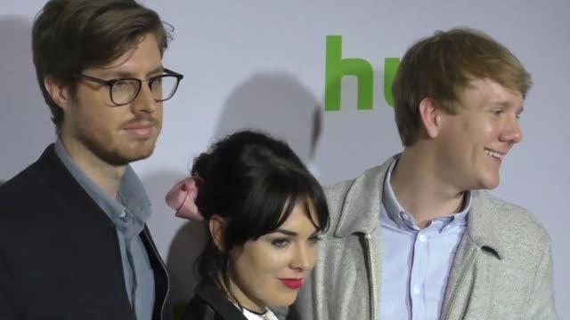 Thomas Wood Emily Barclay and Josh Thomas at the 2017 Winter Television Critics Association Tour Hulu Press Day at Langham Hotel on January 07 2017...
