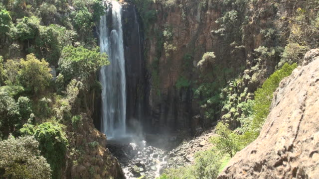 MS Thompson falls in aberdare ranges AUDIO / Nyahururu, Rift Valley, Kenya