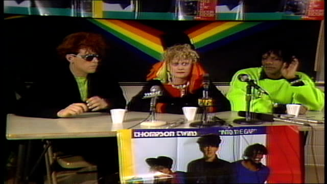 Thompson Twins talking about MTV playing their music videos