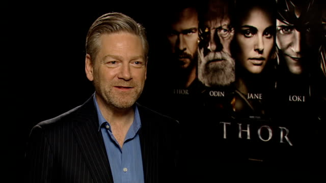 vídeos y material grabado en eventos de stock de 'thor' film junket interviews england london int kenneth branagh interview sot on what attracted him to the story of thor knows the character from... - natalie portman