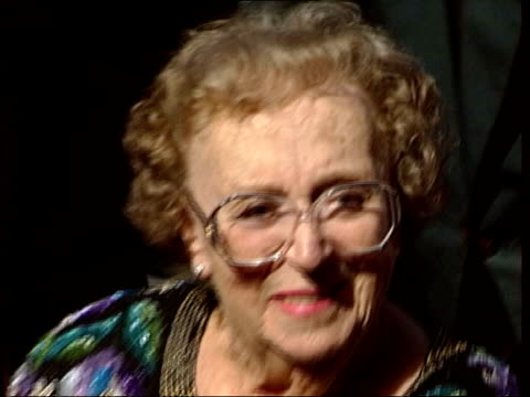 thord hird dies; ronald buerk - news at ten lib england: london: grosvenor house hotel: int actress, thora hird, wheeled along in wheelchair at award... - thora hird stock videos & royalty-free footage