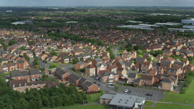 thorpe astley, england - aerial view - leicestershire stock videos & royalty-free footage