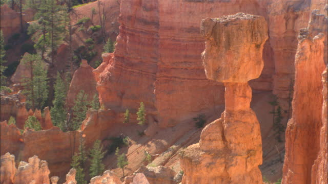 """""""thor's hammer"""" formation available in hd. - rock hoodoo stock videos and b-roll footage"""