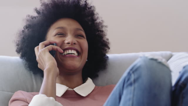 those hour long phone calls with your bestie - contented emotion stock videos & royalty-free footage