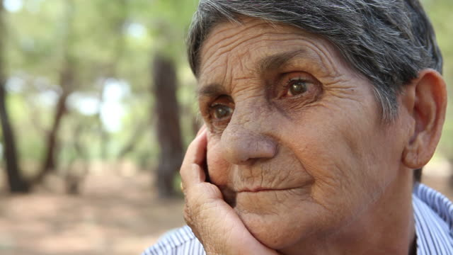 hd: thoughtful senior woman - ozgurdonmaz stock videos and b-roll footage
