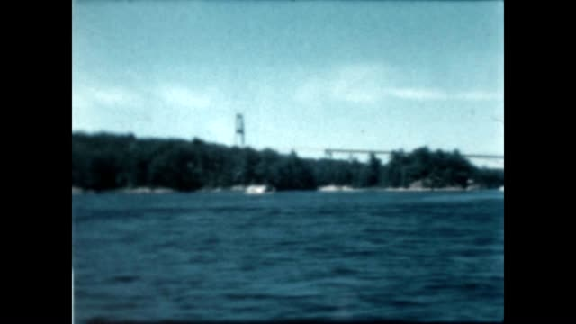 Thousand Islands Bridge from a home movie archive