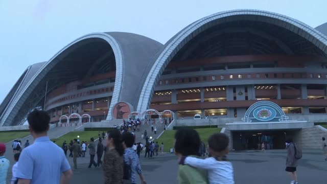Thousands gather in Pyongyang to see the Grand Mass Gymnastics and Artistic Performance at the May Day Stadium