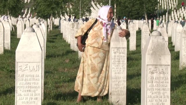 Thousands gather in Srebrenica to mark the 1995 massacre of some 8000 Bosnian Muslims Europe's worst atrocity since World War II with some giving...