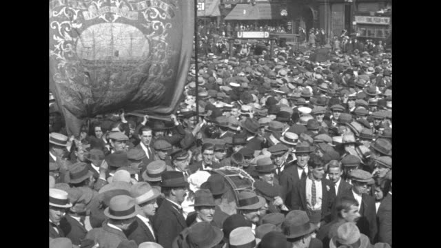 thousands gathered at trafalgar square in london with charlotte despard passionately addressing the crowd about the detention of archbishop of... - 1920 stock videos & royalty-free footage