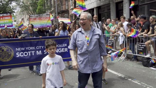 thousands gathered for the 49th annual new york city lgbt pride march in manhattan on sunday june 24 2018 via the west village and 5th avenue... - governmental occupation stock videos & royalty-free footage