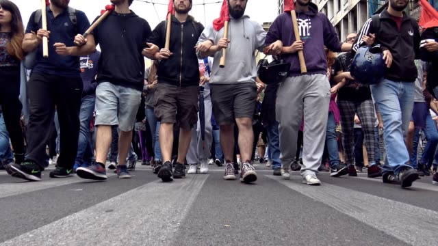 Thousands in Athens protest new austerity package during 24 hour nationwide general strike in Greece on Wednesday Greeks demand end to austerity...