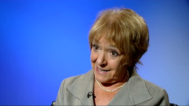 thousands miss out on equitable life compensation due to treasury failings england london int margaret hodge mp interview sot government acted with... - マーガレット・ホッジ点の映像素材/bロール