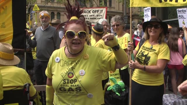 Thousands of Australian environmental activists including farmers rally in Sydney calling on authorities to ditch coal and gas mining developments in...