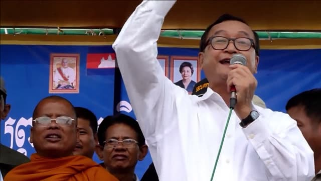 thousands of cambodian opposition supporters protested wednesday over disputed elections that extended strongman prime minister hun sens near three... - strongman stock videos & royalty-free footage