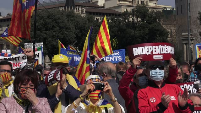 ESP: National Assembly of Catalonia Protest In Barcelona