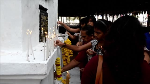 thousands of catholic pilgrims descend on the indian coastal state of goa to witness the once a decade exposition of the relics of a 16th century... - missionary stock videos & royalty-free footage