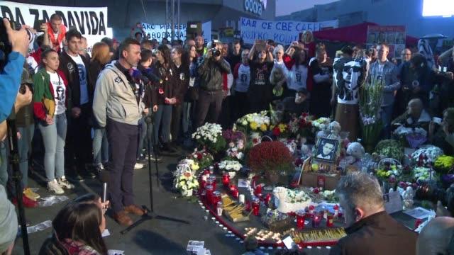 thousands of demonstrates take part in banja luka republika srpska at a rally against serb presidential candidate milorad dodik - banja luka stock videos & royalty-free footage