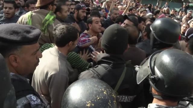 Thousands of demonstrators in Amman made unprecedented calls on Friday for Jordanian King Abdullah II to go as police blocked them from heading to...