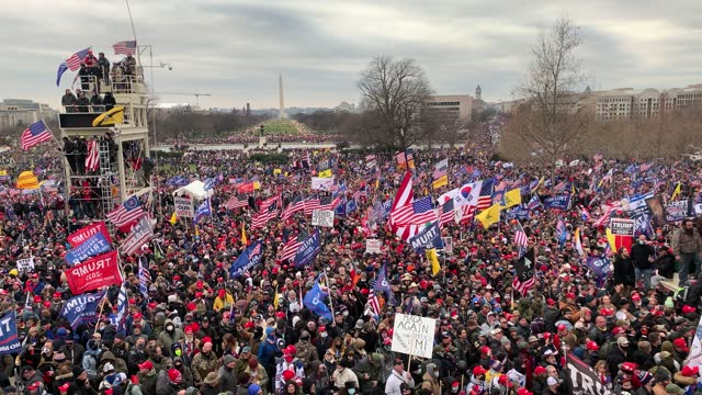 """thousands of donald trump supporters storm the united states capitol building following a """"stop the steal"""" rally on january 06, 2021 in washington,... - capitol building washington dc stock videos & royalty-free footage"""