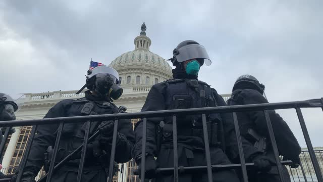 """vídeos de stock, filmes e b-roll de thousands of donald trump supporters storm the united states capitol building following a """"stop the steal"""" rally on january 06, 2021 in washington,... - capitólio capitol hill"""