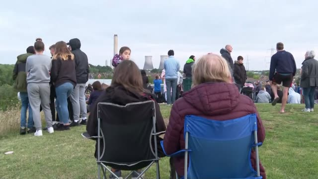 thousands of homes across oxfordshire left without power following didcot cooling towers demolition england oxfordshire didcot didcot power station... - didcot stock videos and b-roll footage
