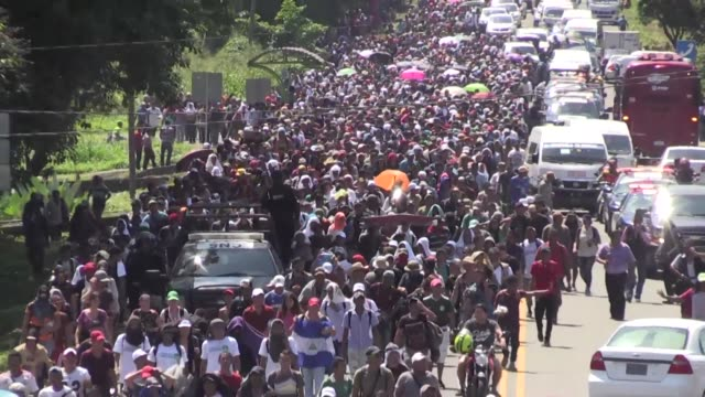 thousands of honduran migrants whose journey toward the united states has triggered a series of tirades from us president donald trump continue their... - exile stock videos & royalty-free footage