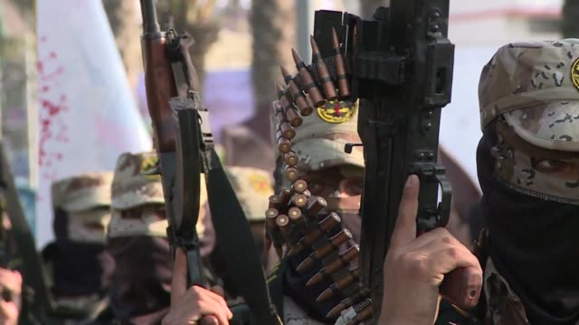 thousands of islamic jihad members marched through the center of gaza city on wednesday in a military parade to mark the anniversary of the 2012... - jihad stock videos & royalty-free footage