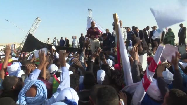 thousands of mauritanians take to the streets of nouakchott to participate in a march against hateful and extremist speech between ethnic communities - nouakchott stock videos & royalty-free footage