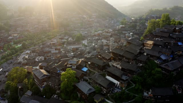 thousands of miao village - wood material stock videos & royalty-free footage