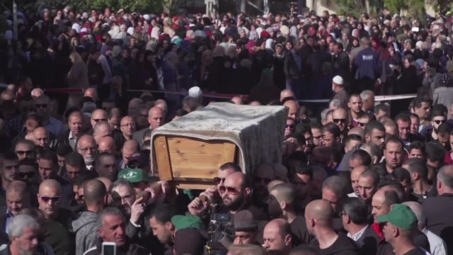 thousands of mourners attend the funeral of aya maasarwe an arab israeli student killed in australia in her hometown of baqa al gharbiya in northern... - hometown stock videos and b-roll footage