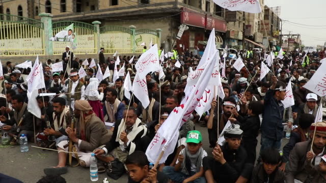 thousands of muslims celebrate holy day of ashura on september 10 2018 in sanaa yemen - muharram stock videos & royalty-free footage