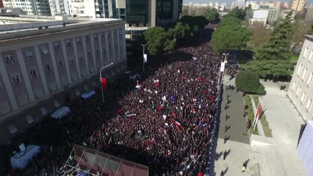 Thousands of opposition supporters protested Saturday in Albania's capital against Prime Minister Edi Rama's socialist government accusing it of...