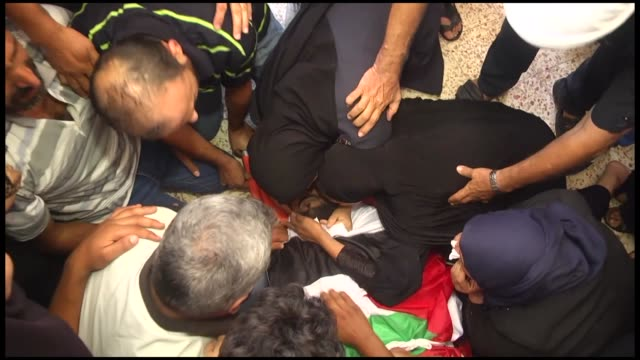 Thousands of Palestinians in the Gaza Strip on Wednesday took part in the funerals of four young Palestinians recently killed by the Israeli army...