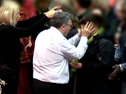 thousands of people are attending churches across europe hoping to be healed of physical and spiritual illnesses. healers are becoming increasingly... - religion stock videos & royalty-free footage