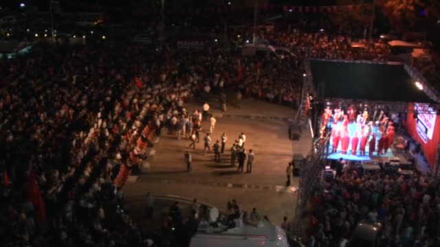 Thousands of people gather at the Cumhuriyet square to protest the failed military coup attempt by Gulenist Terror Organization/Parallel State...