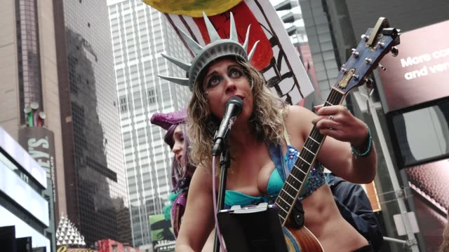 thousands of people gathered in the columbus circle vicinity for the national and global science march on earth day. throughout the event people... - mexican american stock videos & royalty-free footage