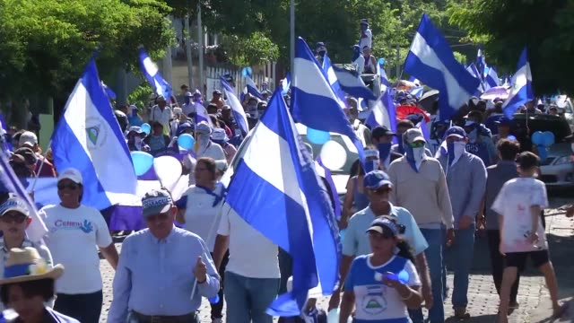 thousands of people hit the streets of nicaraguan capital managua to participate in an anti-government protest - managua stock videos & royalty-free footage